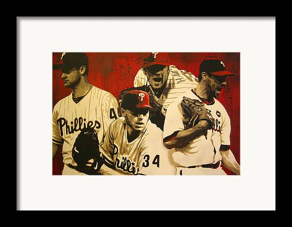 Philadelphia Framed Print featuring the painting 4 Aces by Bobby Zeik