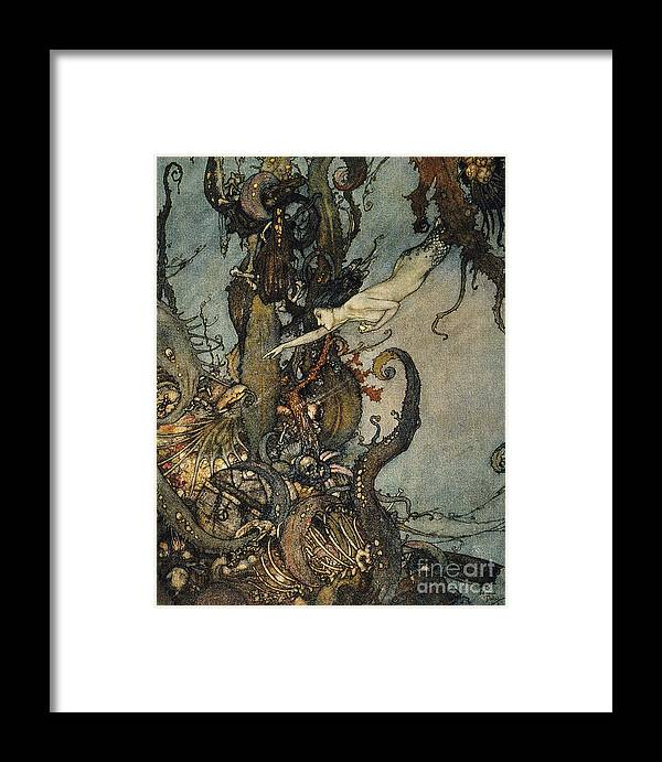 1911 Framed Print featuring the photograph Andersen: Little Mermaid by Granger