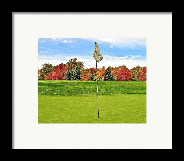 Golf Framed Print featuring the photograph Autumn Golf by Frozen in Time Fine Art Photography