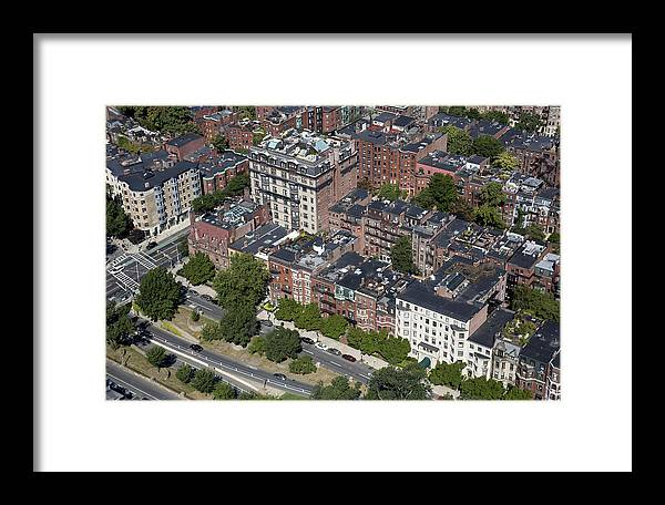 America Framed Print featuring the photograph Back Bay District, Boston by Dave Cleaveland