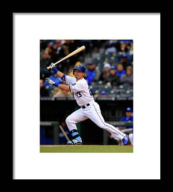 American League Baseball Framed Print featuring the photograph Baltimore Orioles V Kansas City Royals 4 by Jamie Squire
