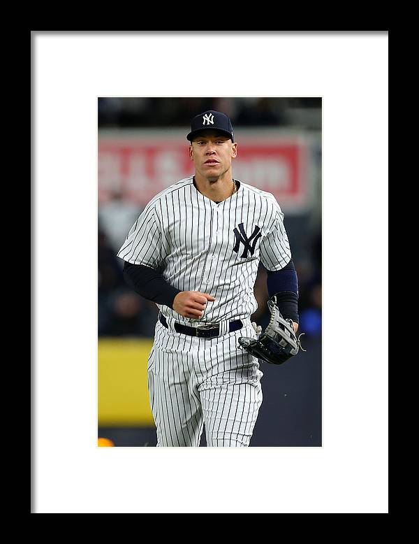 Three Quarter Length Framed Print featuring the photograph Baltimore Orioles v New York Yankees by Rich Schultz