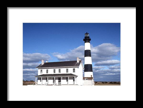 Bodie Island Light Framed Print featuring the photograph Bodie Island Light by Herbert Gatewood