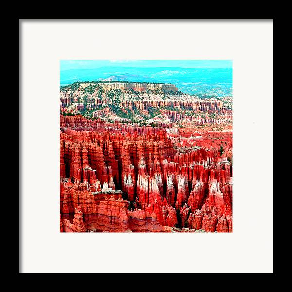 Nature Framed Print featuring the pyrography Canyon by Ernesto Cinquepalmi