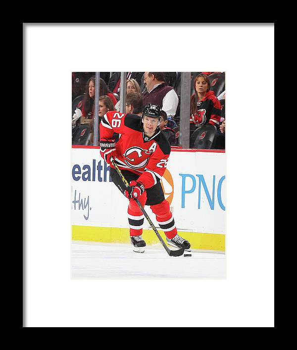 People Framed Print featuring the photograph Carolina Hurricanes V New Jersey Devils by Andy Marlin