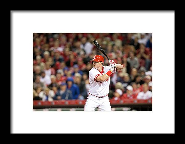Great American Ball Park Framed Print featuring the photograph Chicago Cubs V Cincinnati Reds 4 by Taylor Baucom