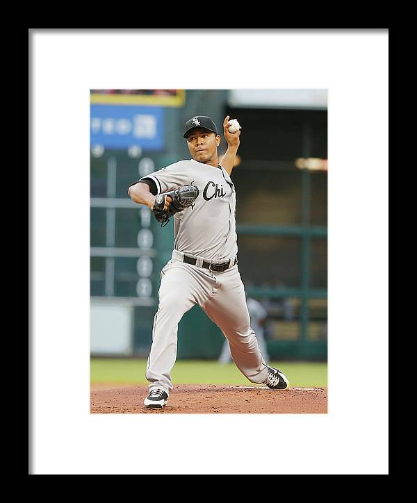 American League Baseball Framed Print featuring the photograph Chicago White Sox V Houston Astros by Scott Halleran