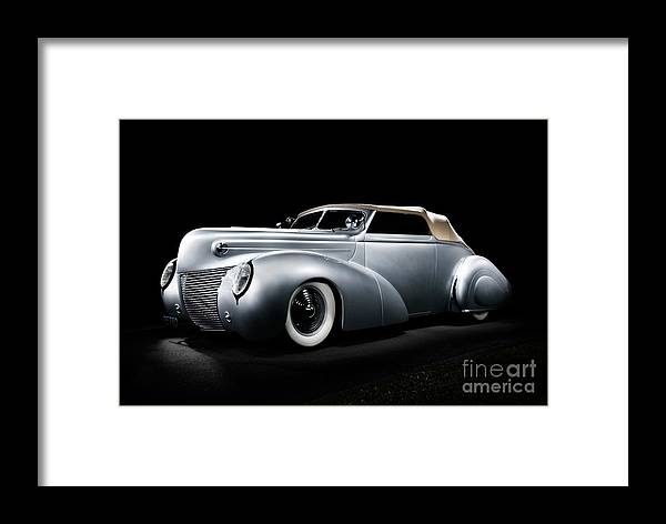 Silver Framed Print featuring the photograph Custom Ford Coupe by Frank Kletschkus