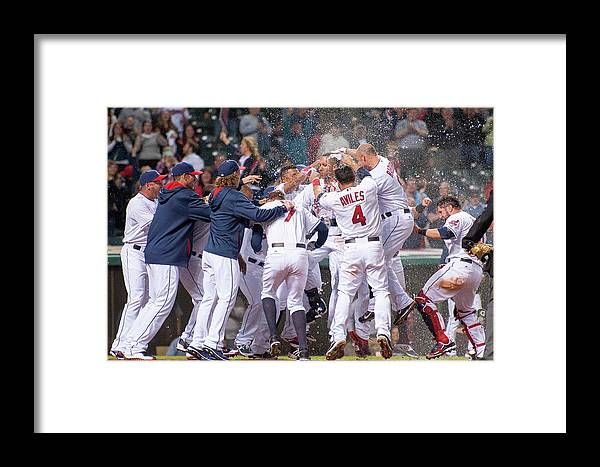 American League Baseball Framed Print featuring the photograph Detroit Tigers V Cleveland Indians 4 by Jason Miller
