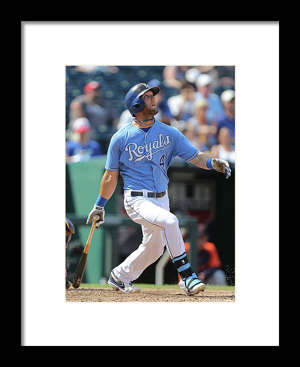 People Framed Print featuring the photograph Detroit Tigers V Kansas City Royals 4 by Ed Zurga