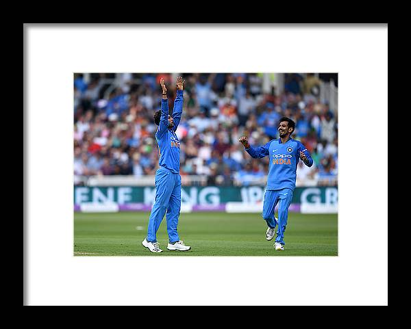 Trent Bridge Framed Print featuring the photograph England v India - 1st ODI: Royal London One-Day Series by Gareth Copley