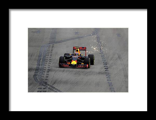 Formula One Grand Prix Framed Print featuring the photograph F1 Grand Prix of Singapore - Qualifying by Clive Mason