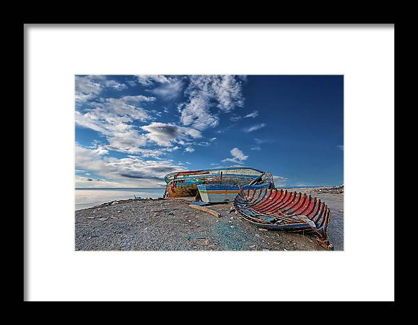 Boat Framed Print featuring the photograph Fishing Boat by Paul Fell