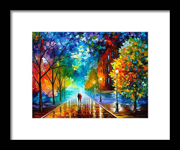 Afremov Framed Print featuring the painting Freshness Of Cold by Leonid Afremov