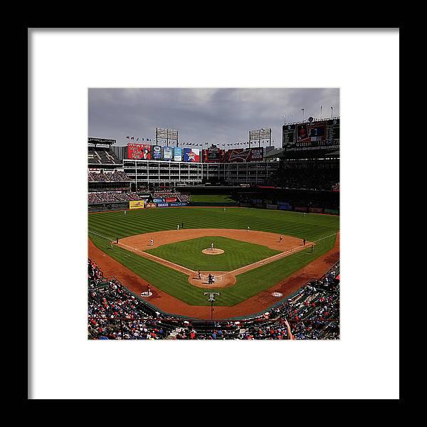 American League Baseball Framed Print featuring the photograph Houston Astros V Texas Rangers by Tom Pennington