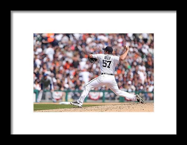 American League Baseball Framed Print featuring the photograph Kansas City Royals V Detroit Tigers 4 by Leon Halip