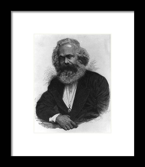 Karl Marx Framed Print featuring the digital art Karl Marx by Unknown