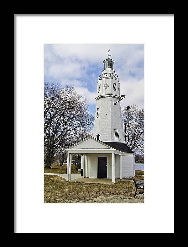 Kimberly Point Lighthouse Framed Print featuring the photograph Kimberly Point Lighthouse by Carol Toepke