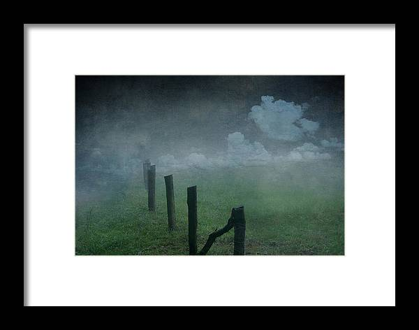 Nature Framed Print featuring the mixed media Landscape by Heike Hultsch
