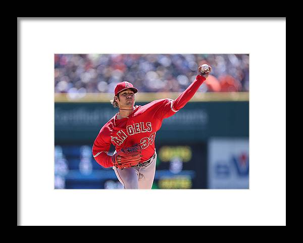 American League Baseball Framed Print featuring the photograph Los Angeles Angels Of Anaheim V Detroit by Leon Halip