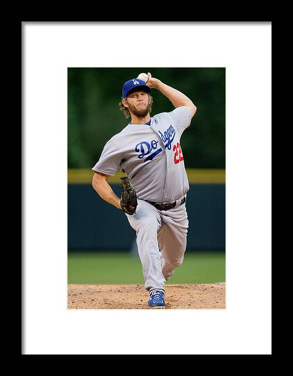 People Framed Print featuring the photograph Los Angeles Dodgers V Colorado Rockies 4 by Justin Edmonds