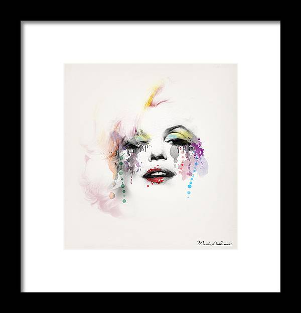 Pop Art Framed Print featuring the painting Marilyn Monroe by Mark Ashkenazi