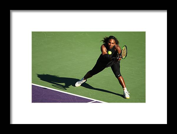 Tennis Framed Print featuring the photograph Miami Open 2018 - Day 3 by Clive Brunskill