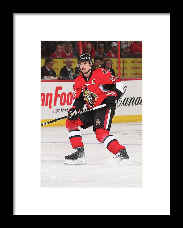 People Framed Print featuring the photograph Montreal Canadiens V Ottawa Senators by Andre Ringuette