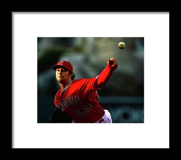 People Framed Print featuring the photograph Oakland Athletics V Los Angeles Angels by Harry How