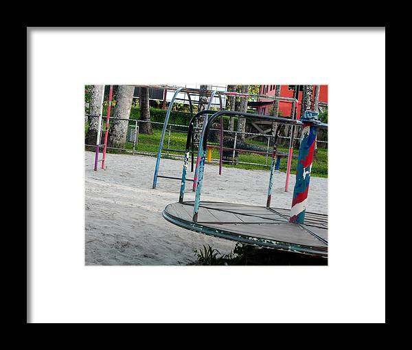 Playground Framed Print featuring the photograph Palmentuin Paramaribo Suriname by Birsin Timurkan