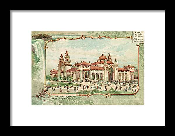 1901 Framed Print featuring the painting Pan-american Exposition by Granger