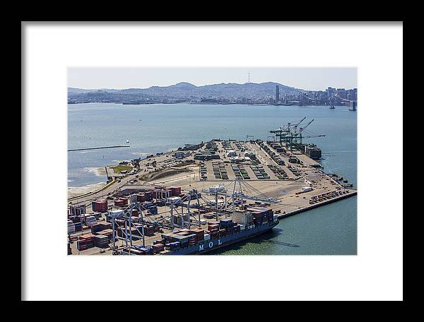 America Framed Print featuring the photograph Port Of Oakland, Oakland by Dave Cleaveland