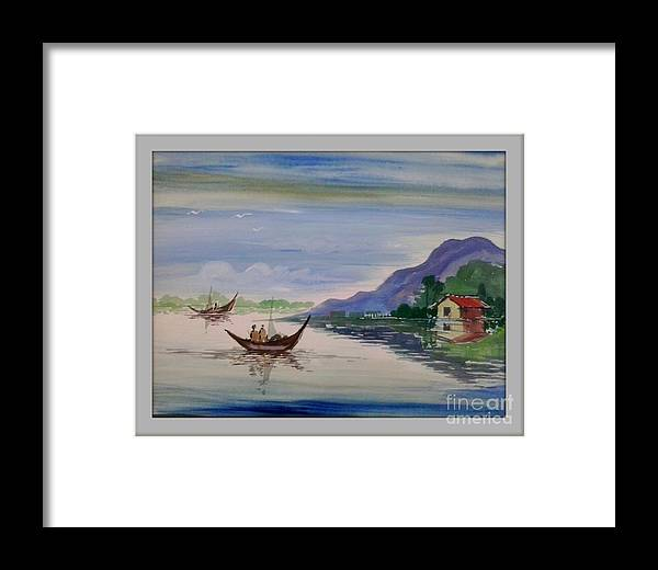 Camel Framed Print featuring the painting Nature- Poster Colour Painting by Sanjay Wagh