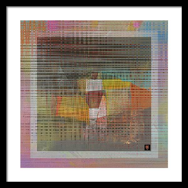Patterns Framed Print featuring the painting Rainbow Moments by Edward Jensen