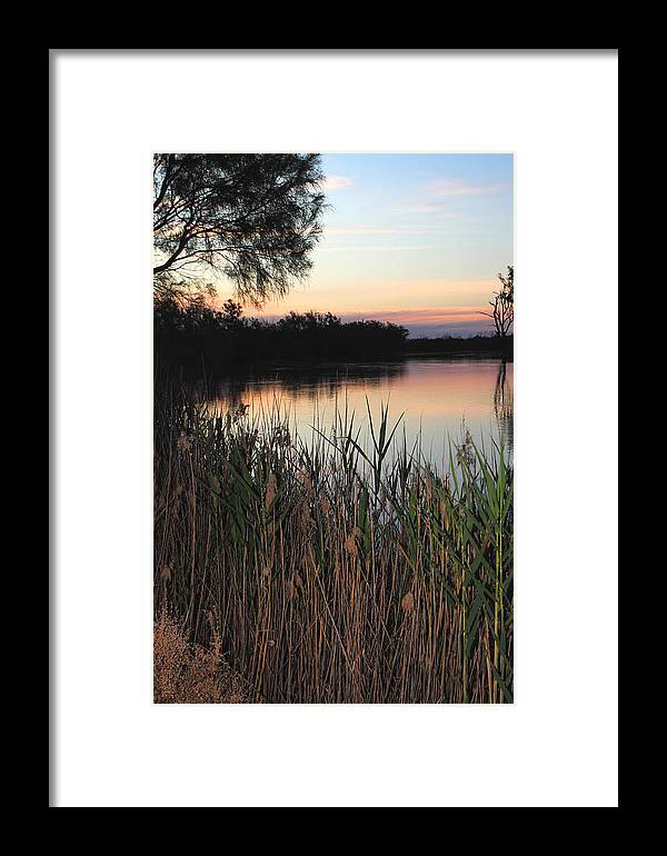River Murray Sunset Framed Print featuring the photograph River Murray Sunset Series 1 by Carole-Anne Fooks