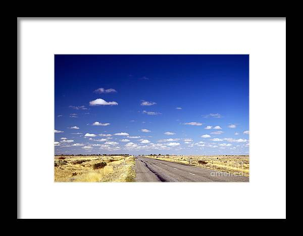 Ahead Framed Print featuring the photograph Road Ahead by Tim Hester