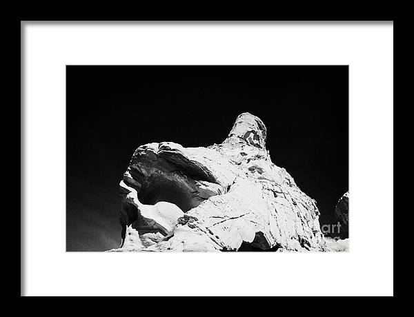 Valley Framed Print featuring the photograph Sandstone Rock Formations On Mouses Tank Trail Valley Of Fire State Park Nevada Usa by Joe Fox
