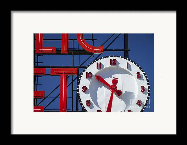 America Framed Print featuring the photograph Seattle Market Sign by Brian Jannsen