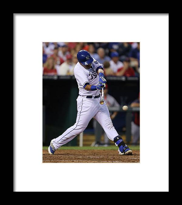 Salvador Perez Diaz Framed Print featuring the photograph St. Louis Cardinals V Kansas City Royals by Ed Zurga