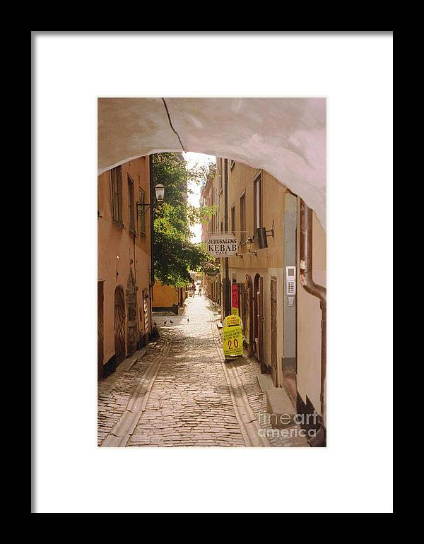 Sweden Framed Print featuring the photograph Stockholm City Old Town by Ted Pollard