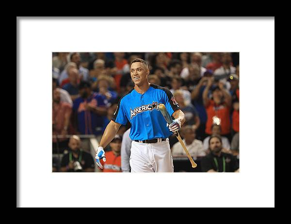 Three Quarter Length Framed Print featuring the photograph T-Mobile Home Run Derby by Mike Ehrmann