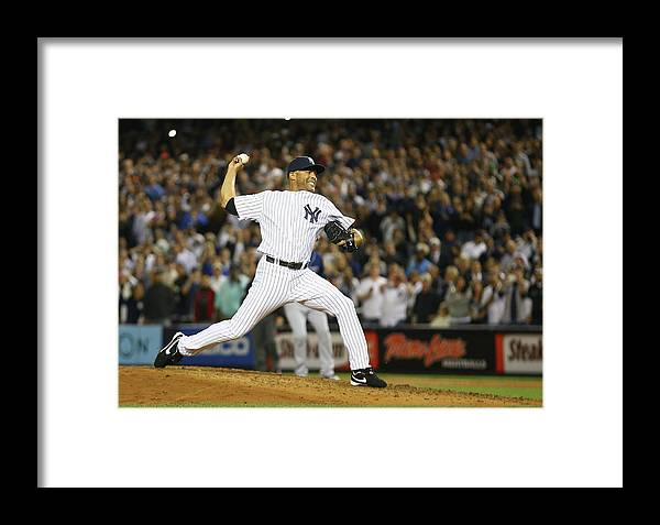 Ninth Inning Framed Print featuring the photograph Tampa Bay Rays V New York Yankees by Al Bello