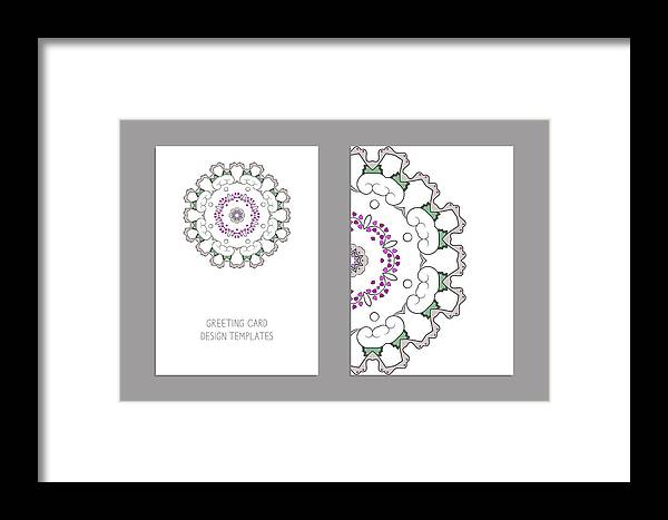Templates For Greeting And Business Cards, Brochures, Covers With Floral  Motifs  Oriental Pattern  Mandala  Wedding Invitation, Save The Date, Rsvp