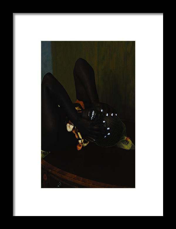 Headwear Framed Print featuring the photograph The Black Victorian by Stephanie Nnamani