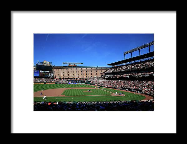 American League Baseball Framed Print featuring the photograph Toronto Blue Jays V Baltimore Orioles by Rob Carr