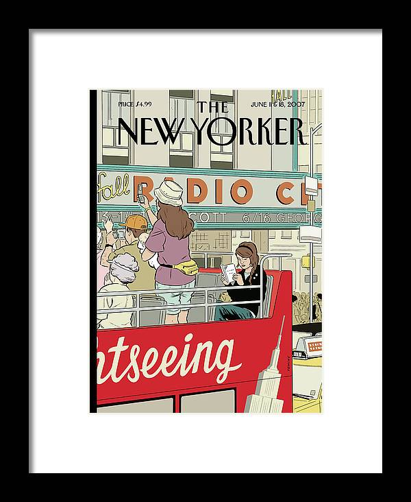 Big City Thrills Framed Print featuring the painting Big City Thrills by Adrian Tomine