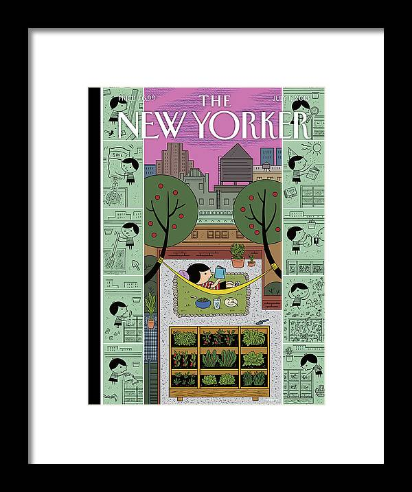 Roof Framed Print featuring the painting Urban Bliss by Ivan Brunetti