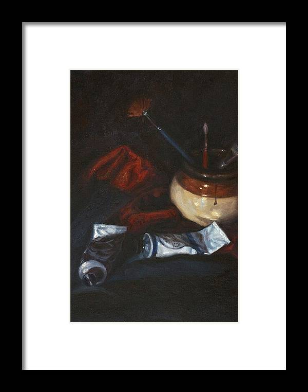 Still Life Framed Print featuring the painting Untitled by Jennifer Soriano