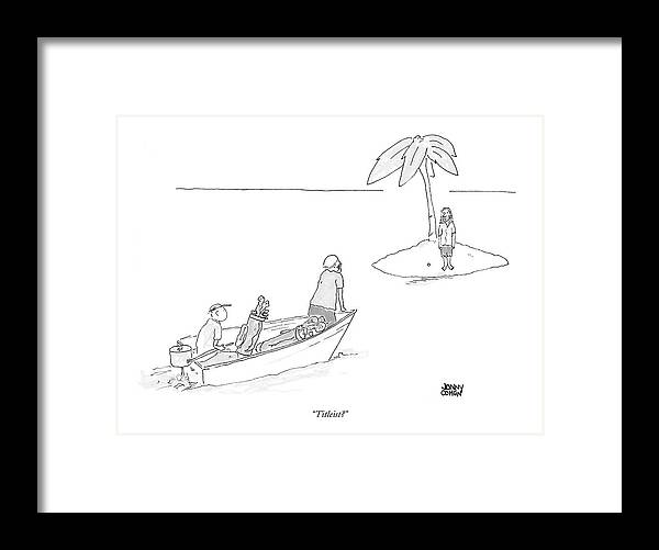 Golf Framed Print featuring the drawing Titleist? by Jonny Cohen