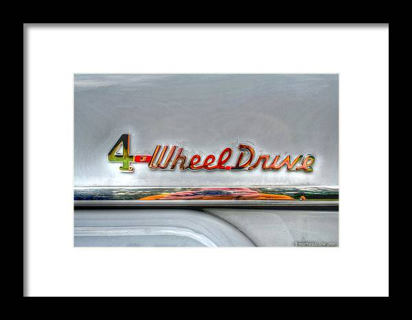 4 Wheel Drive Framed Print featuring the digital art 4 Wheel Drive by Murray Dellow
